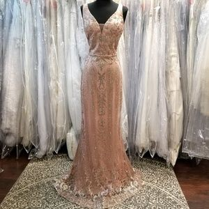 Dresses & Skirts - Rose Gold Glitter Gown